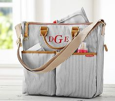 The only diaper bag i have found that i like! French Stripe Skip Hop Duo Diaper Bag #pbkids