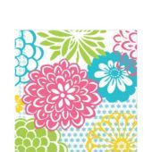 Floral Fireworks Lunch Napkins 16ct - Party City