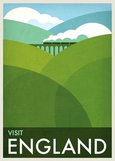 retro travel posters landscape - Google Search