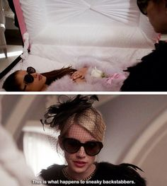 Chanel Oberlin at Chanel #2's funeral // Scream Queens