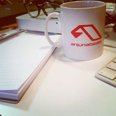 Intern at Anjunabeats :) #mug #coffee #music #business #anjunabeats #anjunadeep #aboveandbeyond