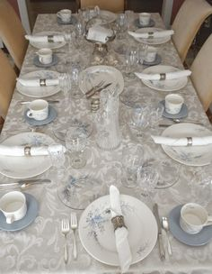 Panoply: Winter Frost Holiday Tablescape