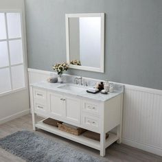 Decorating inspiration and style some ideas for bathrooms, powder rooms, guest bathrooms, master bathrooms.  Traditional, contemporary, eclectic, transitional interior decorating. #Bathroomvanity