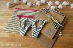 glittered paper straw monogram_desk decor_Handcrafted Parties