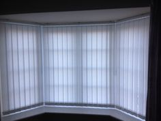 Vertical blinds for the bay window, Knutsford. http://blindsknutsford.co.uk