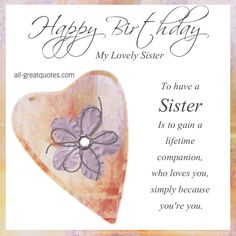Happy Birthday Brother : Image : Description Happy Birthday Brother : Sweet Greetings Happy Birthday For Lovely Sister Sister Birthday Funny, 50th Birthday Quotes, Birthday Wishes Funny, Birthday Humorous, 21 Birthday, Birthday Cakes, Birthday Ideas, Free Happy Birthday Cards, Funny Happy Birthday Images