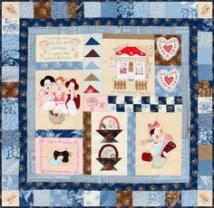 Blueberry Girls Quilt. - Red Brolly