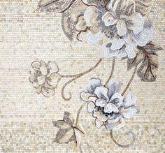 Neutral Floral Mosaic Tile :: Sicis