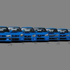 Subaru WRX STi generations - Poster V2