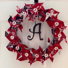 Universidad+de+Alabama+Crimson+Tide+por+whatawhirlpinwheels+en+Etsy,+$40,00