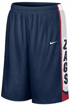 """Nike Gonzaga Bulldogs 12"""" Inseam Blue Embroidered Player Basketball Shorts (L=37-38) by Nike. $60.00. Embroidered Gonzaga Graphics Officially licensed by the NCAA the  Gonzaga Bulldogs 12"""" Inseam Blue Embroidered Player Basketball Shorts By Nike has a body made from 100% Polyester and features an elastic waistband with a drawstring, an embroidered Nike Swoosh on the upper left leg, a longer length 12"""" inseam, and sewn down tackle-twill embroidered Zags team appli..."""