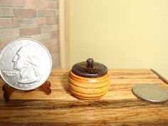 """Dollhouse Miniature 1:12 Cookware & Tableware Canister Handcrafted by """"Oppi""""#HO2 #HandcraftedMiniaturesbyOppi"""