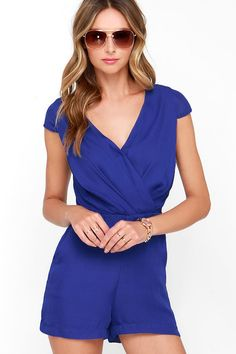 5 of The Fashion Pen's Favorite Rompers for summer Across the Way Royal Blue Romper