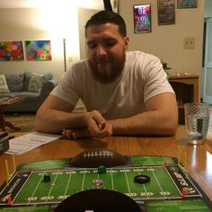Played some NFL Rush Zone with the birthday boy last night. I didn't even know they had an NFL board game until a few days ago. #NFL #nflrushzone #boardgame #fun #family