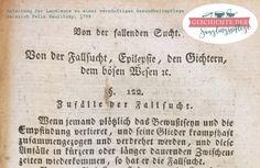 Epilepsie in einer Beschreibung von 1798 - Paulitzky §122   Geschichte der Säuglingspflege