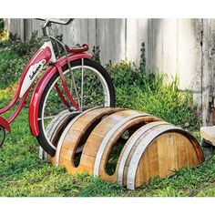 Reclaimed Barrel Bike Rack