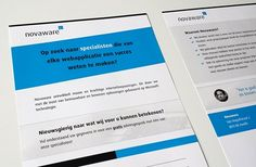 Zwanenburg Media | Flyer Novaware voor De Netwerkvloer