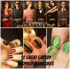 10 Great Gatsby Inspired Manicures #nails #greatgatsby #diy #beauty