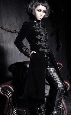 Gothic steampunk style coat Edwardian style  black by Studiokimy, $165.00
