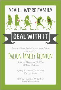 Family Reunion Invite - PRINTABLE DIGITAL INVITATION | FAMILY ...