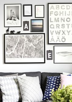 How to compose a picture wall Picture Wall, Decoration, Staging, Modern Contemporary, Gallery Wall, Mid Century, House Design, Frame, Poster
