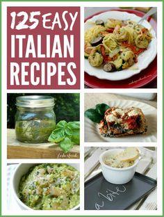 125+ Easy Italian Recipes from some wonderful food bloggers! #recipes #italian #easy