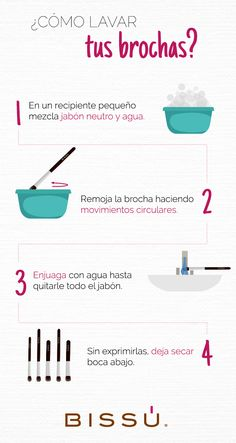 How to wash your brushes - make up - Maquillaje Cute Makeup, Simple Makeup, Natural Makeup, Fast Makeup, Glam Makeup, Beauty Make-up, Beauty Secrets, Beauty Hacks, Makeup Tools
