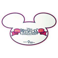 Your WDW Store - Disney Auto Magnet - 2014 runDisney Princess 1/2 Marathon - Ears