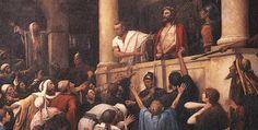 de onschuldige Jesus wordt aan de hysterische massa overgelaten als een zondebok