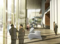 Headquarters of the Commercial Bank of Ethiopia by Henn Architekten - Entrance hall