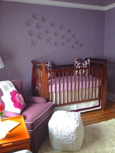 Nursery in Pantone's 2014 Color of the Year, Radiant Orchid. - Erika Ward Interiors
