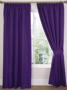 Purple Curtains For The Guest Room