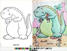 The Long-Expected Dinosaur Upr is listed (or ranked) 12 on the list 54 Coloring Book Corruptions That Will Taint Your Childhood