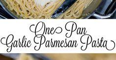 One Pan Garlic Parmesan Pasta | Recipe | Squash noodles, Fettuccine noodles and Parmesan