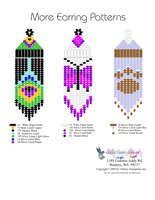 Printable or Downloadable Beaded More Fringe Earrings bead graph