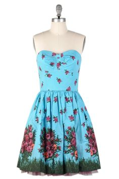 Betsey Johnson's Bouquet Print Poplin Dress