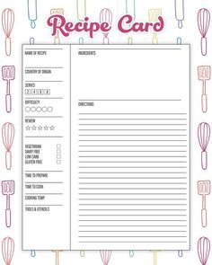 The Best Free Printable Kitchen Planner To Organize Your Year! Make 2019 the yea. The Best Free Printable Kitchen Planner To Organize Your Year! Make 2019 the year that you get your Kitchen in tip top organizational shape! Printable Recipe Cards, Printable Labels, Free Printables, Recipe Printables, Templates Printable Free, Planner Template, Printable Planner, Planner Stickers, Menu Planning Printable