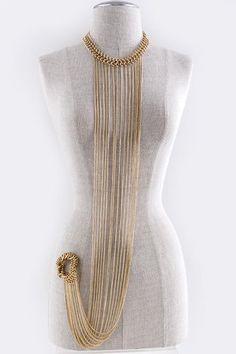"$35.00 18"" Stretchable Body Chain with Bracelet"