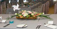 Mariage Ile Maurice Centre de table moulin à vent