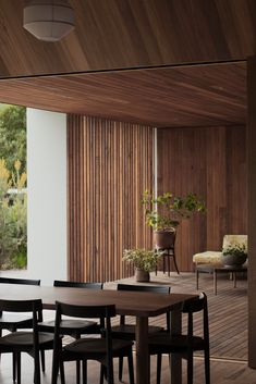 Moving walls and decked terraces connect the four interlinked pavilions of Point Lonsdale House in Australia by Edition Office. Brick Columns, Moving Walls, Beautiful Beach Houses, Timber Walls, Melbourne House, Architect House, Coastal Homes, Guest Bedrooms, Outdoor Rooms