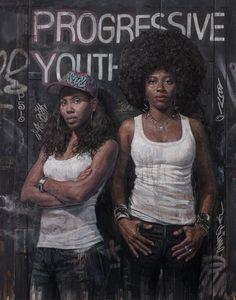 Tim Okamura painting titled Progressive Youth