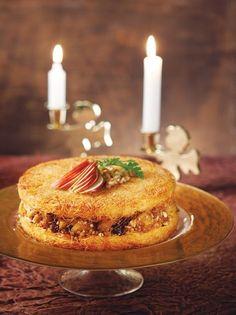 Τούρτα κανταΐφι με μήλα - www.olivemagazine.gr Greek Recipes, Desert Recipes, Apple Pie, Birthday Candles, Deserts, Cake, Food, Kuchen, Essen