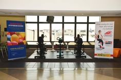 Passengers can work off some of the calories consumed in the food courts by riding stationary exercise bikes at Philadelphia airport. Interesting Topics, Nbc News, You Fitness, Stay Fit, Philadelphia, Waiting, The Incredibles, Workout, Airports