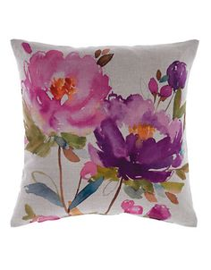 Home | Bed | Polly Watercolour Print Pillow | Hudsons Bay