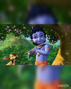 Krishna Gif, Radha Krishna Songs, Krishna Mantra, Krishna Flute, Radha Krishna Love Quotes, Radha Krishna Pictures, Lord Krishna Images, Little Krishna, Baby Krishna