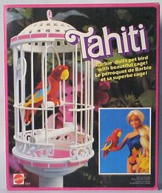 Barbie 1985 misc animal TAHITI PARROT. (I got this for Christmas one year and my Brother who is 10 years older helped me put it together.)