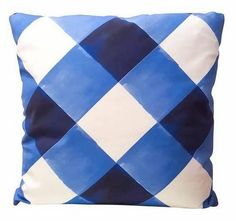 """Search Results for """"society social inslee watercolor gingham pillow watercolorginghampillow """" – domino White Throw Pillows, Blue Pillows, Linen Pillows, Navy Bedding, Diy House Projects, White Home Decor, Handmade Home Decor, Fashion Room, Unique Furniture"""