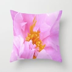 Spring Flower Throw Pillow by lillianhibiscus - $20.00
