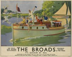 Posters produced by Britain's railway companies during the 1920s and 1930s.  The posters were designed by some of the finest artists of the time – such as Charles Pears, Louis Burleigh Bruhl, Ronald Lampitt –  and bring a glamour and appeal to the idea of not only going on holiday in Britain, as most people did at that time, but also conveyed the excitement of going there by train.
