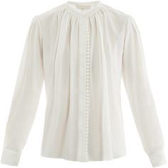 Vanessa Bruno Lace trimmed blouse ($362) ❤ liked on Polyvore